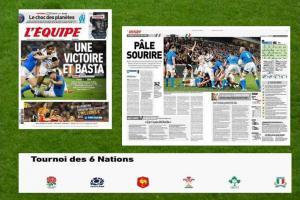 V ragbyovém poháru šesti národů zůstalo po třetím kole neporažené jen Irsko